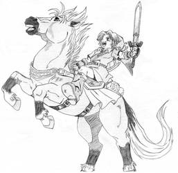 Link and Epona by zelda-Freak91