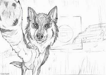 Photobombing - sketch by zelda-Freak91
