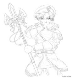 Royal Guard - lines by zelda-Freak91