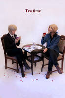 Hetalia Fruk + Tea Time by PinkFluffyKitchicorn