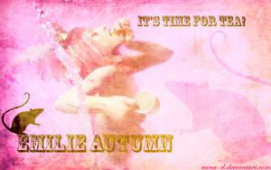 Emilie Autumn Wallpaper: Time for Tea by mina-D