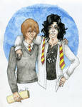 Messrs Moony and Padfoot (colour)