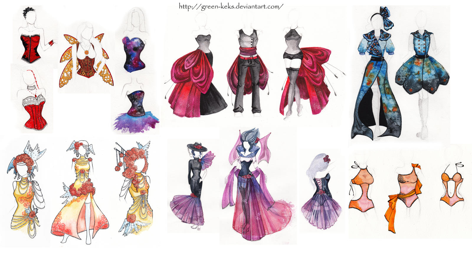 Fashion designs favourites by CupcakesAreLove on DeviantArt