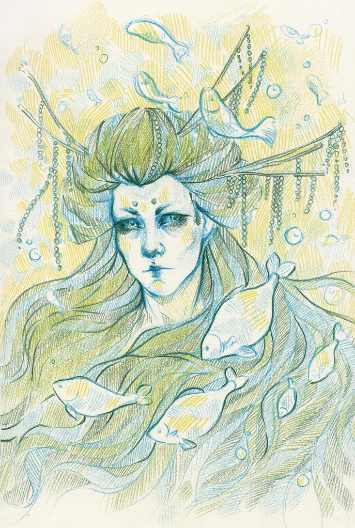 Geisha and fish by Paskhalidi