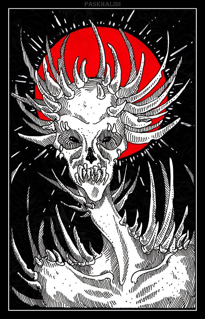 INKTOBER. 27. CREEPY by Paskhalidi