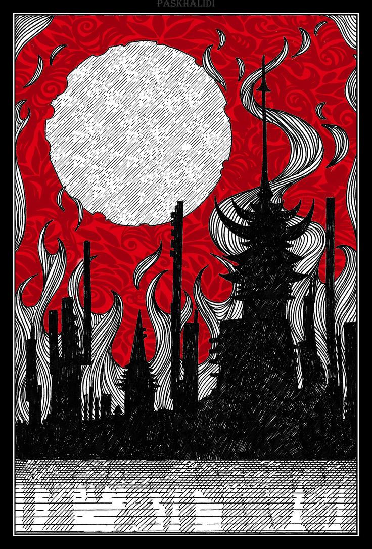 INKTOBER. 28. BURN by Paskhalidi