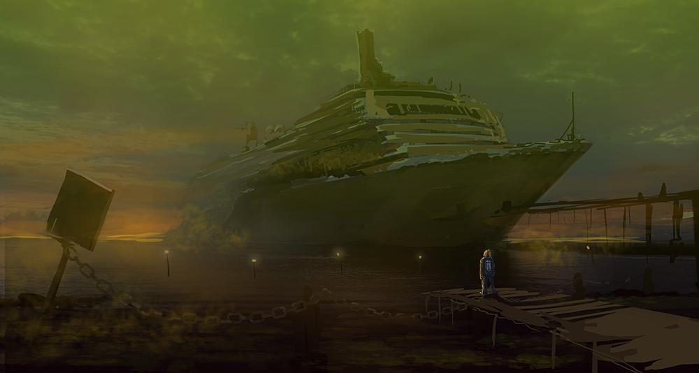 Coastal toxic shipwreck by bungyx