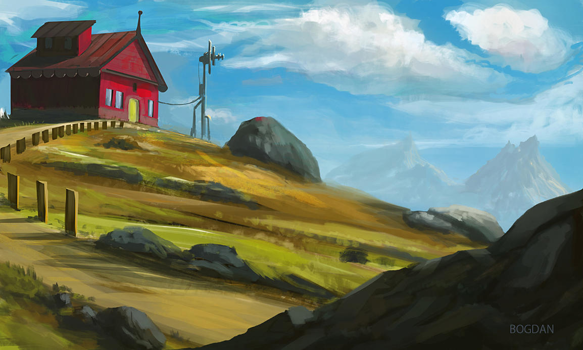 Landscape Sketch by bungyx
