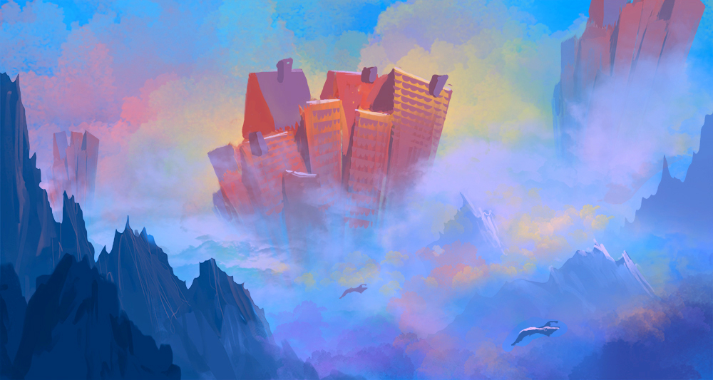 speed paint : endless rooftops by bungyx