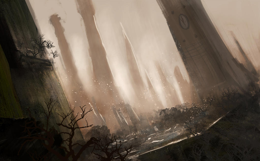 city forgotten by time speed paint by bungyx