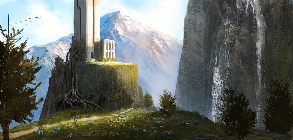 Fantasy landscape by bungyx