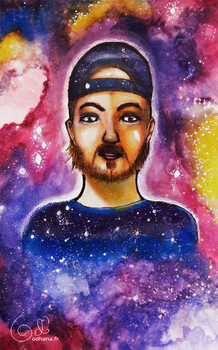 Portrait of a friend in the stars