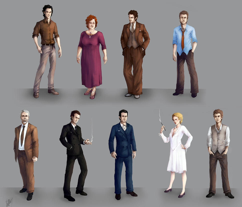 Lucky Strike character line-up by malikaa