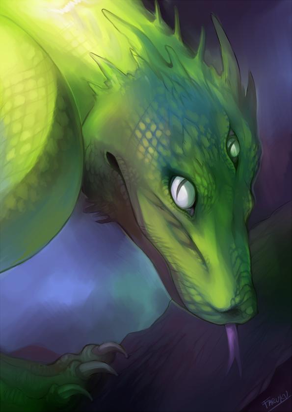 Tree snake Dragon by malikaa
