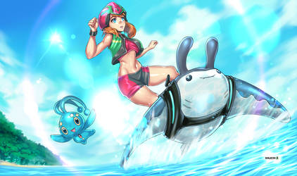 May Mantine Surfing with Manaphy