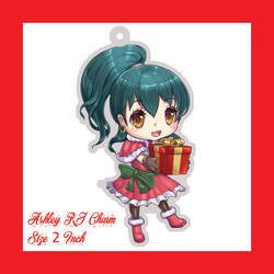 Ashley Christmas Chibi by JittWolfProductions