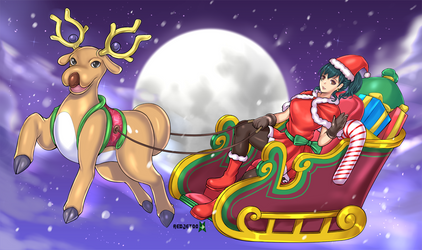 Ashley Christmas Pokemon by JittWolfProductions