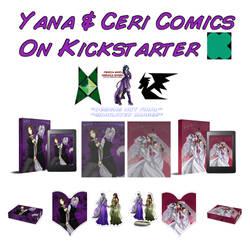 Yana  Ceri Comic Print Kickstarter by JittWolfProductions