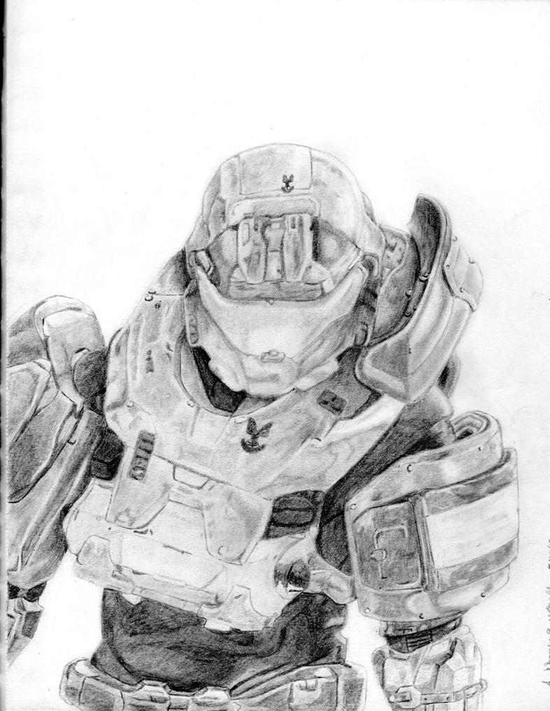 Jorge Halo Reach Drawing