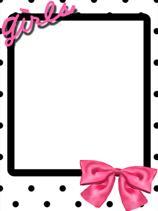 Girls Frame with Bow by TheKarinaz on DeviantArt