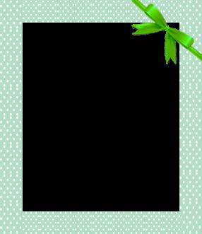 green photo frames