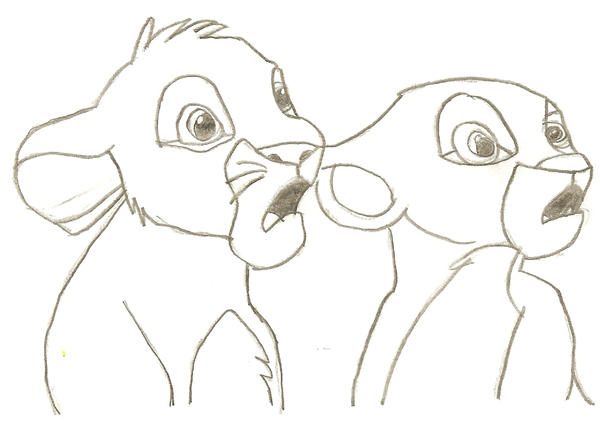 Simba And Nala as Cubs Drawing Simba Nala Cub...900 x 516