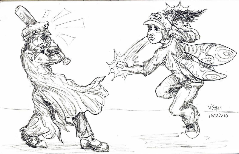 MothraWario vs Yanki J by VenGethenian