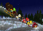 Angry Birds Android Xmas Card Design