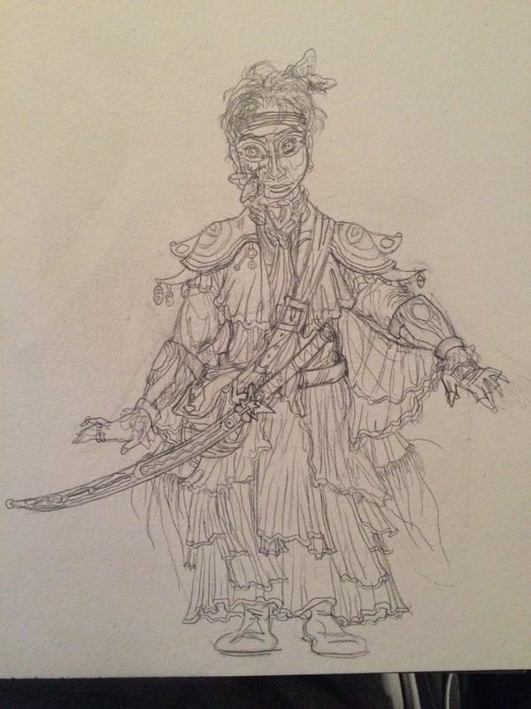 Ancestor Moth Cult Priest concept sketch by VenGethenian