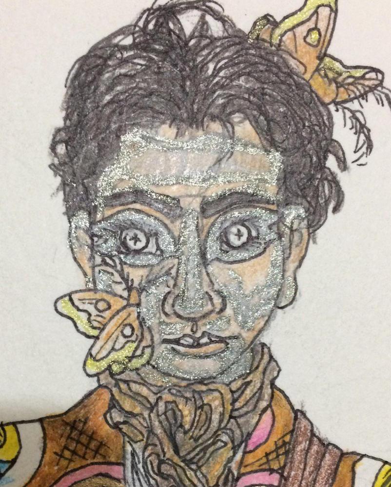Moth Priest concept -- Bowietastic moth chow by VenGethenian