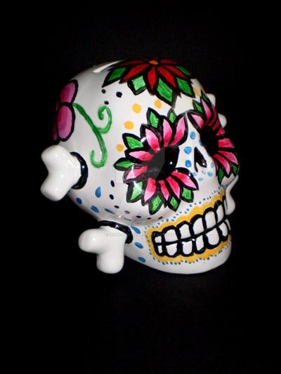 Dia de los Muertos Skull by Vicki-Death