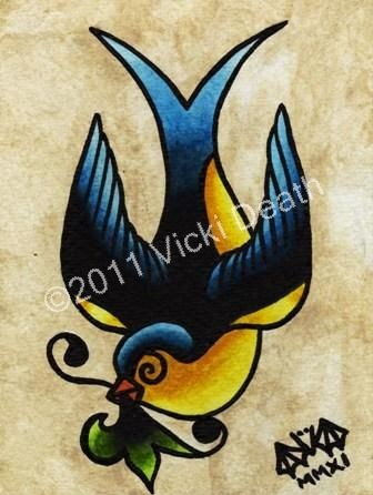 Swallow Tattoo Design Picture 5