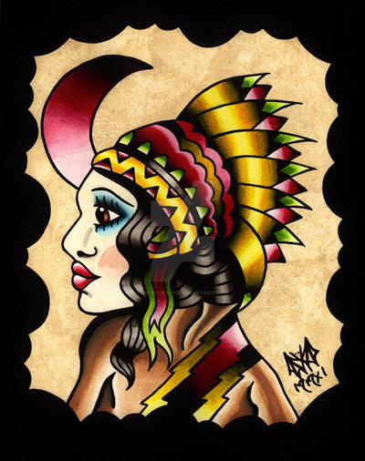 The Native Girl by Vicki-Death