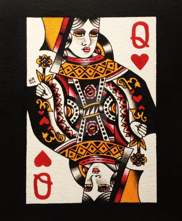 Queen Of Hearts By Vicki Death On Deviantart