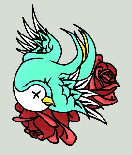 Dead swallow by Carbun