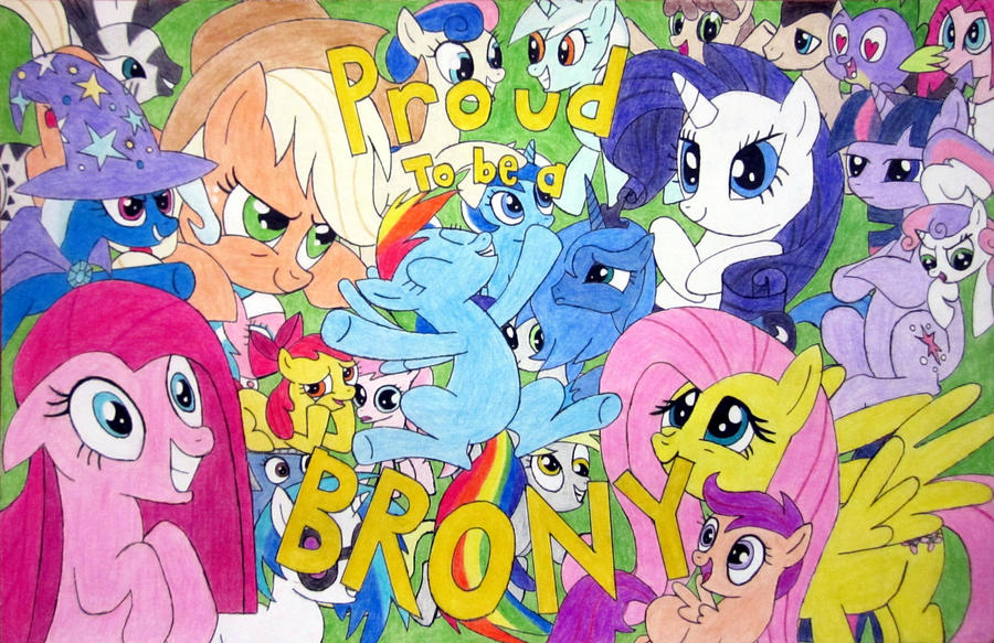 PROUD TO BE A BRONY by MetaDragonArt