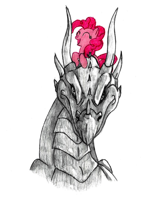 pinkie and the dragon by MetaDragonArt