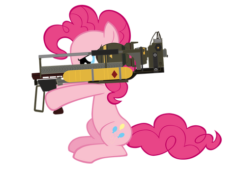 pinkie and her Fatmare Mini Nuke Launcher