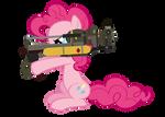 pinkie and her Fatmare Mini Nuke Launcher