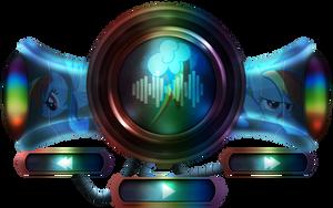 Rainbow Dash music player interface by MetaDragonArt