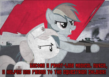 soviet pony propaganda: front-line medic by MetaDragonArt