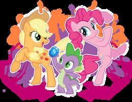 Pinkie Jackie Spikey by MetaDragonArt