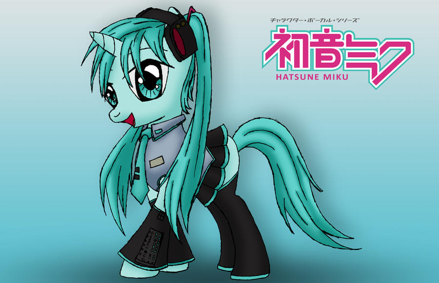 Hatsune Miku pony by MetaDragonArt