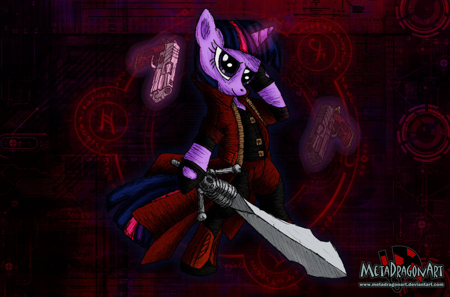 Pony May Cry - Twilight Sparkle by MetaDragonArt