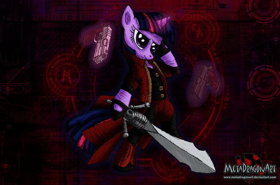 Pony May Cry - Twilight Sparkle by MetaDragonArt