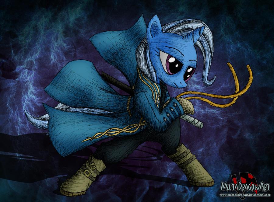 Pony May Cry - Trixie Lulamoon by MetaDragonArt