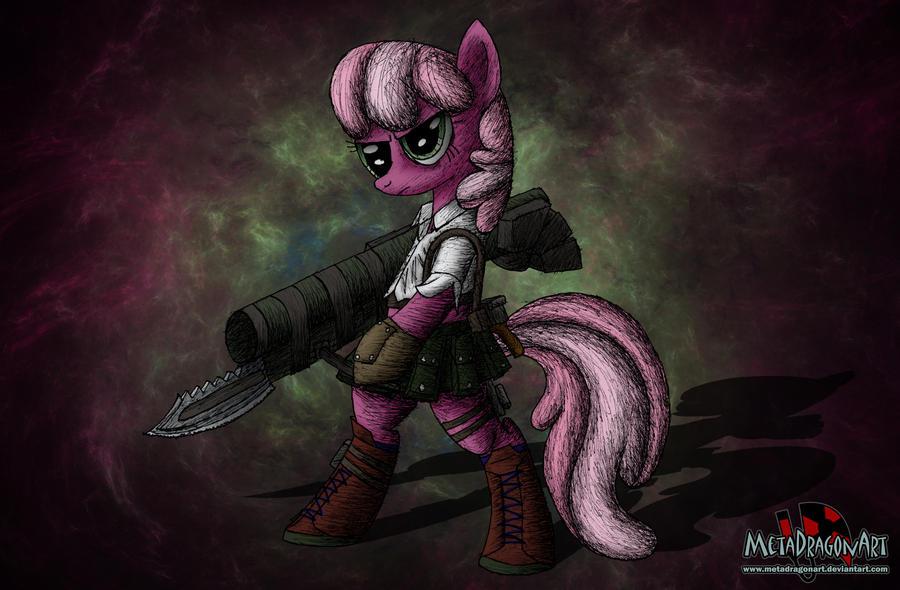 Pony May Cry - Cheerilee by MetaDragonArt