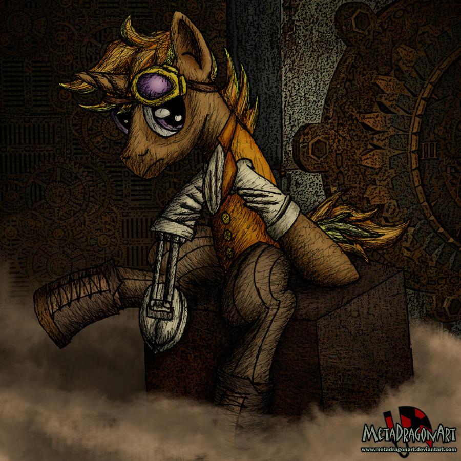 Roger Huston Steampunk Pony by MetaDragonArt