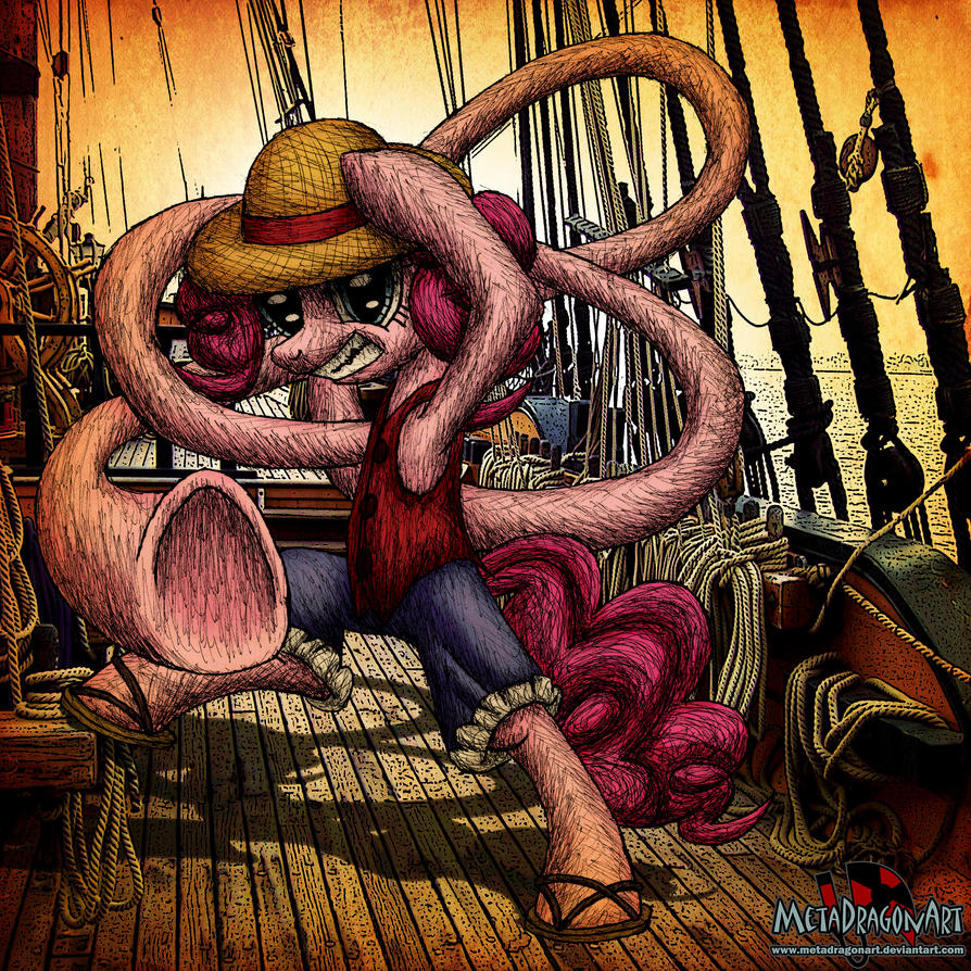 Pinkie D. Luffy by MetaDragonArt