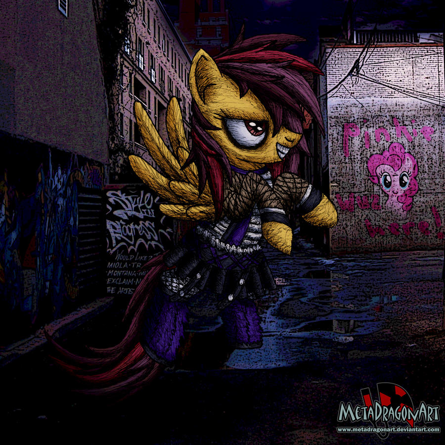 Violet Melody cyberpunk by MetaDragonArt